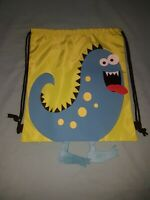Dinosaur Green & Blue Library / Swimming Bag With Felt Feet Brand New (no tags)