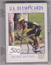 (500) 1992 US OLYMPIC HOPEFULS RUTHIE MATTHES CARDS #33 ~ GIANT LOT ~ CYCLING