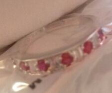 Diamondesque Ring Size 8 with Red Stones normally £20