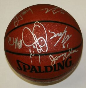 2006-07 Utah Jazz Team Signed Basketball 14 Signatures Jerry Sloan PSA/DNA