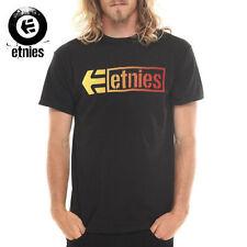 NEW Etnies Stencil Box Skate T-Shirt Tee Black NWT RT$25 30€ Snow Surf Street