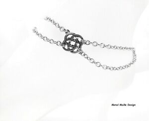 Celtic Endless Knots Silver Charm Anklet Women's Stainless Steel Jewelry Chains