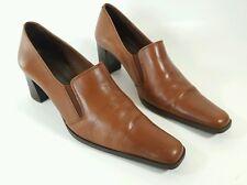 Basic by Paco Herrero womens tan leather mid heel shoes uk 5 Eu 38