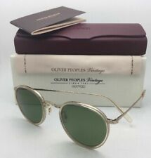 New OLIVER PEOPLES Vintage Sunglasses MP-2 SUN OV 1104-S 514552 Buff w/ Green