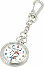 Citizen Q&Q Pocket Watch Hello Kitty Waterproof Clip HK27-214 White From Japan