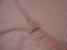 """One yd GINGHAM CHECK FLANNEL FABRIC 100% Cotton Pink White 45"""" x 36""""  BTY"""
