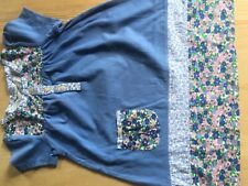 Mini Boden girls pretty Jersey and floral hotch-potch blue dress age 2-3 BNWOTs