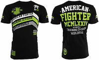 AMERICAN FIGHTER Mens T-Shirt CORNER Athletic BLACK GREEN Biker Gym MMA $40