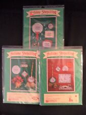 Vtg Christmas Holiday Stenciling Lot Vinyl Candle Joy Noel PreCut Decoration NOS