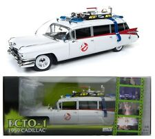 1:18 AUTO WORLD *GHOSTBUSTERS* ECTO-1 1959 Cadillac Ambulance *NEW IN BOX*