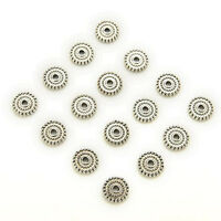 100pcs Tibet Silver Loose Spacer Beads Jewelry Making Findings DIY Beads Sale