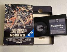 VINTAGE 1983 MOONRAKER BETAMAX MOVIE BETA TAPE JAMES BOND 007 ROGER MOORE SLEEVE