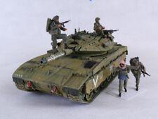 IDF Merkava 2 D with 4 Resin Figures - Built 1/35