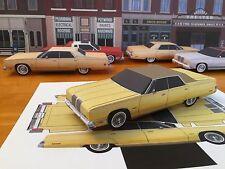 Papercraft Chrysler New Yorker Yellow Paper Model Car EZU-Make 1976-1978