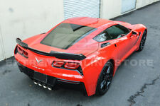 For 14-19 Corvette C7 Z06 Stage 2 Painted Rear Base Spoiler CARBON FIBER Winglet