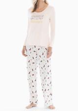 Soma PJ 2pc SET Cool Nights Long Sleeve & Pants - Posh Party Pink Champagne PJs