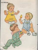 Infants Jumper, Panties, Overalls, Shirt Sewing Pattern Size 18 - 22 Lbs. Uncut