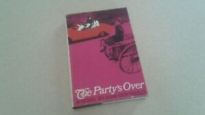 1966 THE PARTY'S OVER FIRST EDITION HC BOOK BY JUAN GOYTISOLO SPAIN DICTATORSHIP