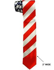 US Flag Old Glory  Neck Ties For Men &  Adults - Slim Style   (ENTiePr10)