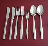 Ginkgo Helmick Sea Drift Dinner Salad Forks Knives Place Soup Spoons Flatware