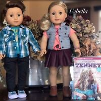 American Girl Tenney Grant Doll AND Logan Boy Doll TWO DOLLS Tenny New IN BOX