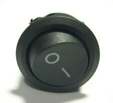 50x On-Off Rocker Switch Round 12V Black Car Diy Project 6A 250VAC 10A 125VAC