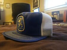 Vintage Lowenbrau BEER Blue And White Mesh Trucker Hat K Products