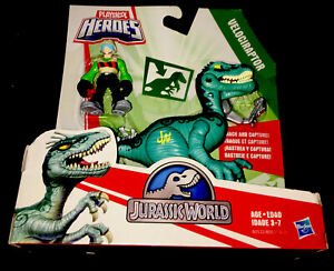 Playskool Heroes Jurassic World Velociraptor with figure - NIP