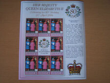 UNION ISLAND,2006,,QE11,80TH BIRTHDAY,SHEETLET OF 8 ,$2 VALUE STAMPS,EXCELLENT.