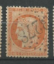 N°38 Type Cérès de 1849 - 40c orange  année 1870 oblitéré gros chiffres