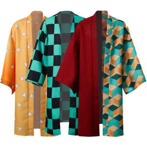 Demon Slayer Kamado Tanjirou Agatsuma Zenitsu Cosplay Costume Kimono Uniform