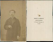 Bailly, Tours, monsieur à lunettes Vintage CDV albumen carte de visite C