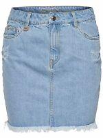 *860/1 NEU ONLY Damen Jeans Mini Rock onlNELLY RAW DNM SKIRT AKM2165D  Size 29