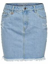 *860/1 NEU ONLY Damen Jeans Mini Rock onlNELLY RAW DNM SKIRT AKM2165D  Size 29