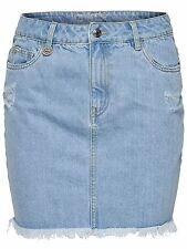 *860/1 NEU ONLY Damen Jeans Mini Rock NELLY RAW DNM SKIRT AKM2165D  Size 29