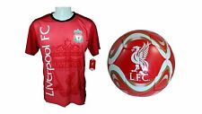 Liverpool F.C. Official Soccer Jersey & Size 5 Ball -14 Large