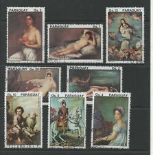 Thematic Stamps Art - PARAGUAY 1976 SPANISH PAINTINGS 8v used
