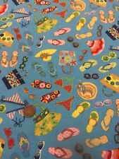 Makower - 456 Seaside Beachwear - 100% Cotton Quilting Fabric