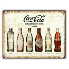 Coke SIGN METAL WALL PLAQUE Coca Cola In Bottles Retro poster Advert PUB BAR