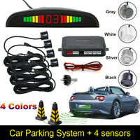 4 Parking Sensors LED Display Car Auto Backup Reverse Radar System Alarm Kit Set