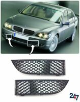 FRONT BUMPER LOWER GRILL PAIR SET COMPATIBLE WITH BMW 7 SERIES E65 E66 LCI