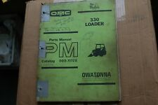 Mustang 330 Skid Steer Loader Parts Manual Book Catalog List Spare Front End Oem