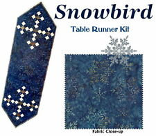 SNOWBIRD TABLE RUNNER QUILT KIT - Moda Snowflake Fabric by Laundry Basket Quilts