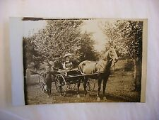 Vtg Real Photo Postcard RPPC - West Bend Wisconsin WI Horse Drawn Buggy #411