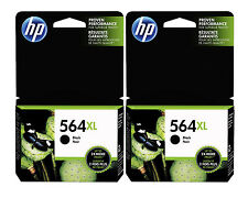 GENUINE NEW HP 564XL (CN684WN) Black Ink Cartridge 2-Pack