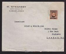 Morocco Agencies 1936 Advertising Cover Stegassy Casablanca Riley Willie London