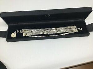 Heavy Sterling Silver BRACELET Andrew Mazzone Multi Chain 17 - 19cm long