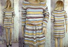 Knielange H&M Damenkleider mit Rundhals-Ausschnitt aus Baumwollmischung