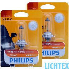 Philips Vision más visión h1 h3 h4 h7 h11 hb3 hb4 halogen faros lámpara Duo
