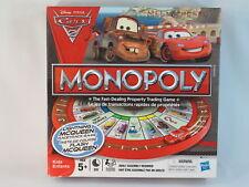 Monopoly Cars 2 Disney Pixar 2011 Hasbro Board Game 100% Complete Bilingual